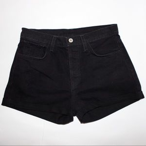Brandy Melville black denim high waisted shorts